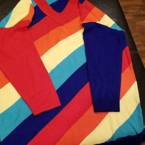 Rainbow Sweater Dress